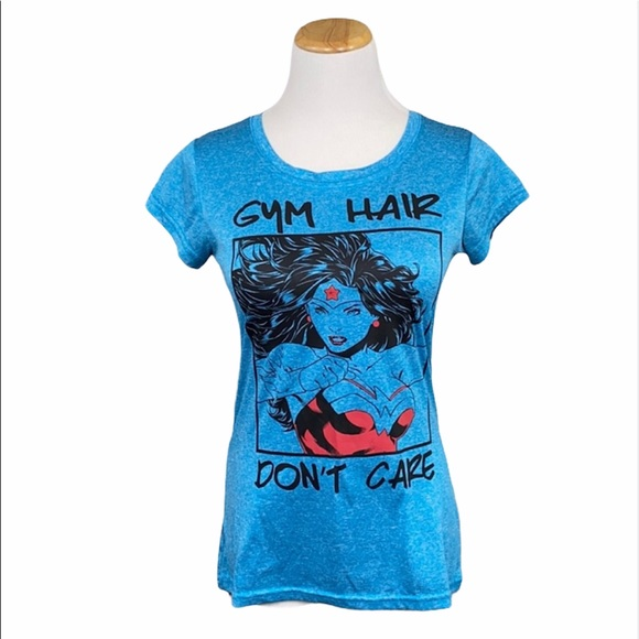DC Wonder Woman Gym Hair Don't Care Scoop Neck Tee